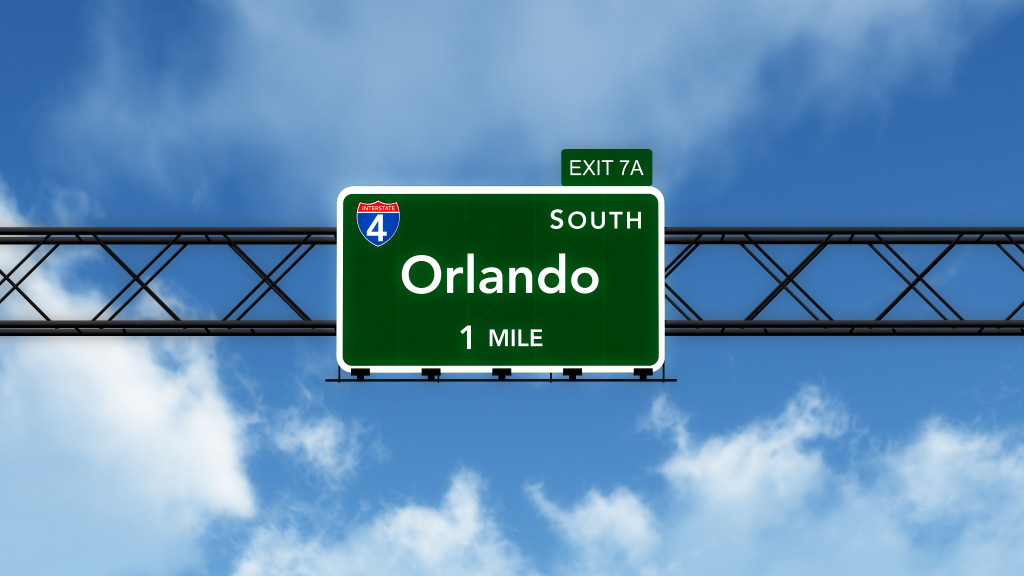 Orlando USA Interstate Highway Sign